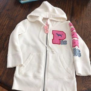 NWT - Victoria Secret Pink sweatshirt XS - White